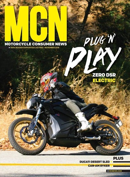 Motorcycle Consumer News Cover - 11/1/2018