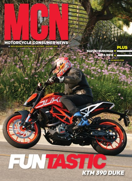 Motorcycle Consumer News Cover - 8/1/2018