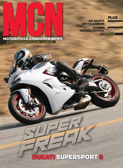 Motorcycle Consumer News Cover - 10/1/2018