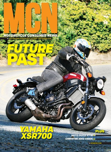 Motorcycle Consumer News Cover - 9/1/2018