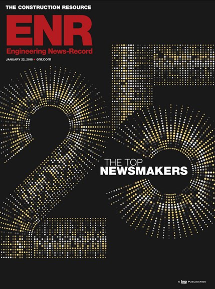 Engineering News Record Cover - 1/22/2018