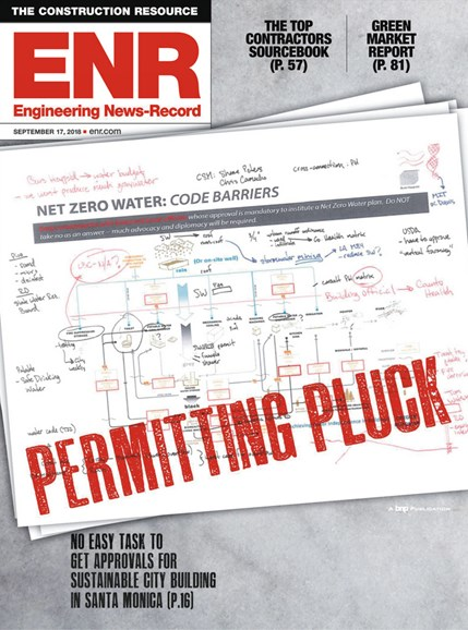 Engineering News Record Cover - 9/17/2018