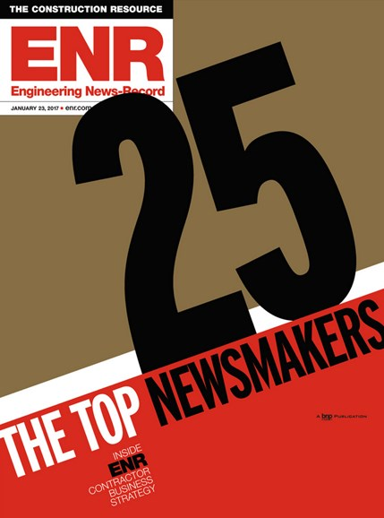 Engineering News Record Cover - 1/23/2017