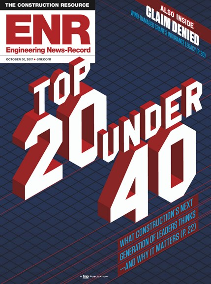 Engineering News Record Cover - 10/30/2017