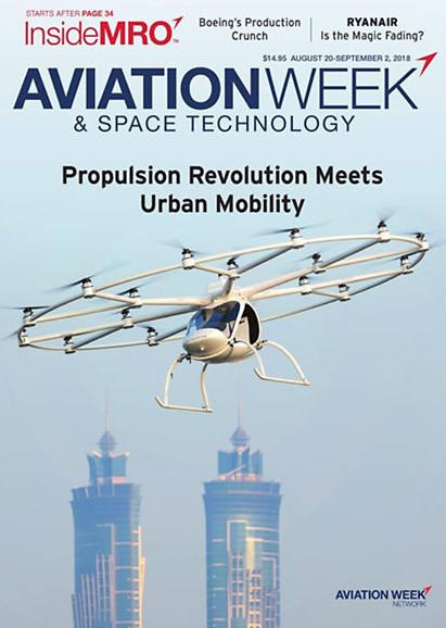 Aviation Week & Space Technology Cover - 8/20/2018