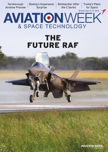 Aviation Week & Space Technology Cover - 7/2/2018