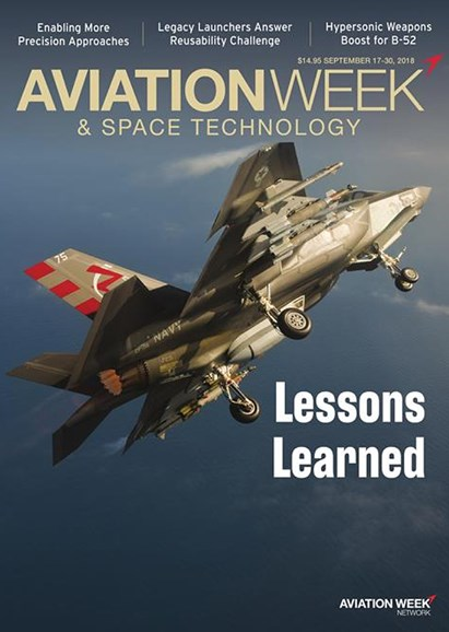 Aviation Week & Space Technology Cover - 9/17/2018