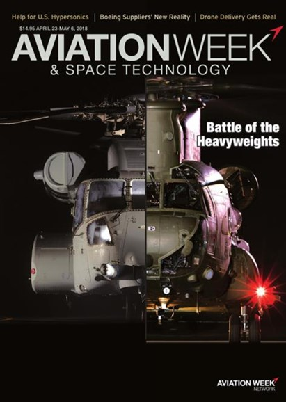 Aviation Week & Space Technology Cover - 4/23/2018