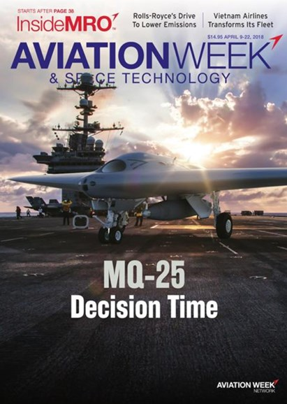 Aviation Week & Space Technology Cover - 4/9/2018