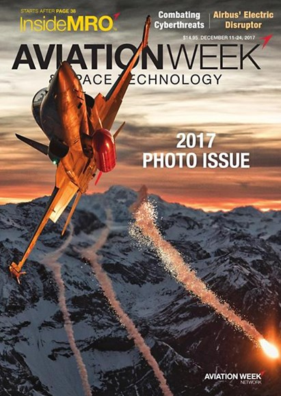 Aviation Week & Space Technology Cover - 12/11/2017