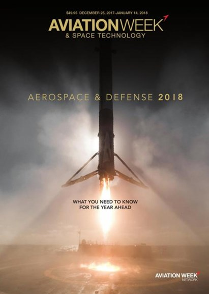 Aviation Week & Space Technology Cover - 12/25/2017