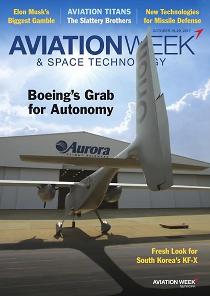 Aviation Week & Space Technology Cover - 10/16/2017