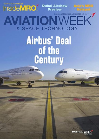 Aviation Week & Space Technology Cover - 10/30/2017