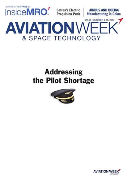 Aviation Week & Space Technology Cover - 10/7/2017