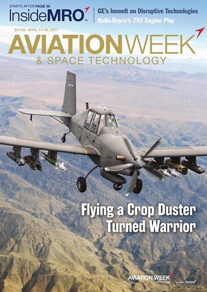 Aviation Week & Space Technology Cover - 4/17/2017