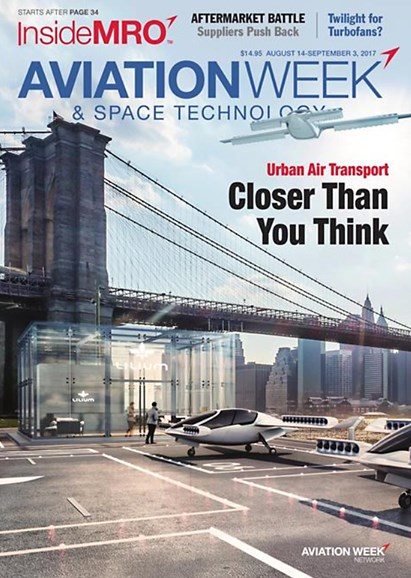 Aviation Week & Space Technology Cover - 8/14/2017