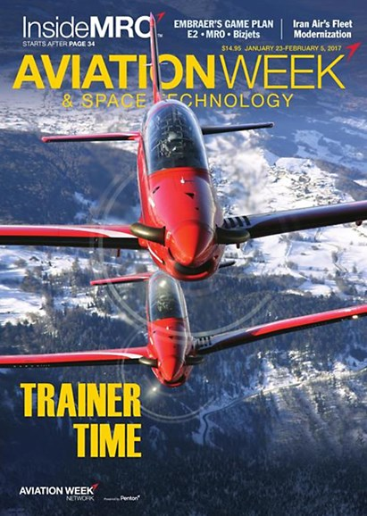 Aviation Week & Space Technology Cover - 1/23/2017