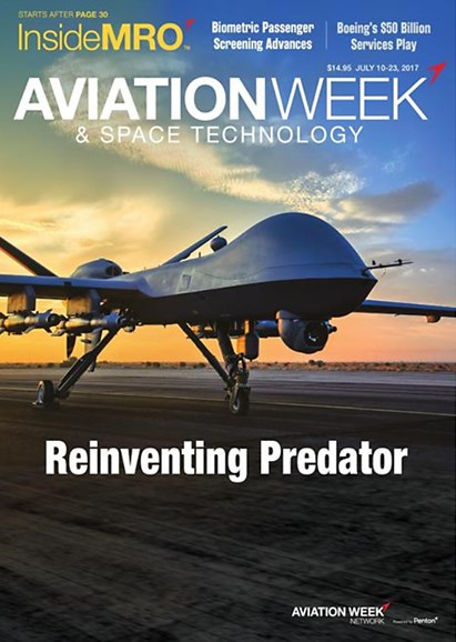 Aviation Week & Space Technology Cover - 7/10/2017