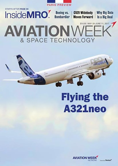 Aviation Week & Space Technology Cover - 5/29/2017