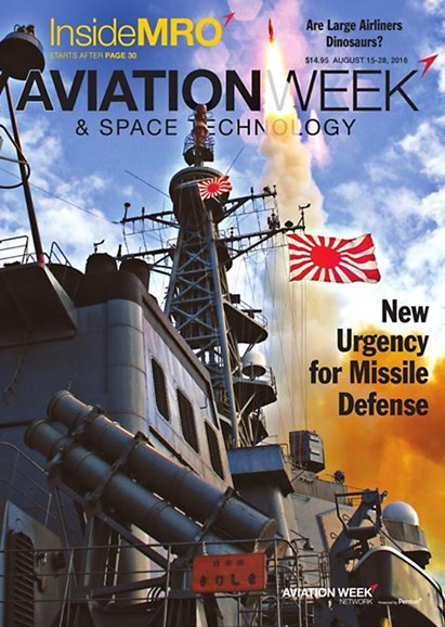 Aviation Week & Space Technology Cover - 8/15/2016