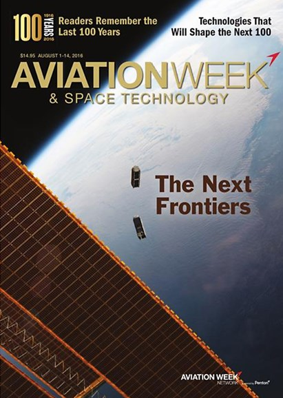 Aviation Week & Space Technology Cover - 8/1/2016