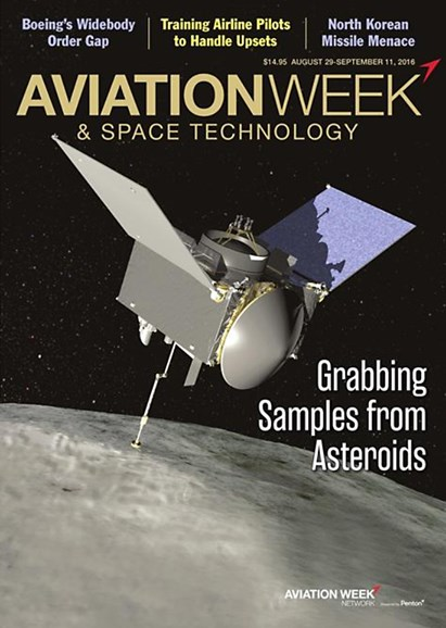 Aviation Week & Space Technology Cover - 8/29/2016