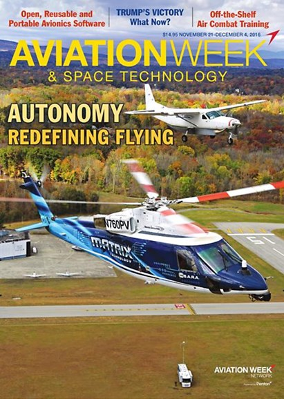 Aviation Week & Space Technology Cover - 11/21/2016