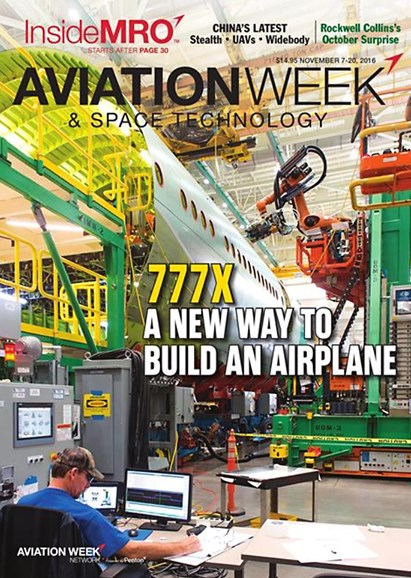 Aviation Week & Space Technology Cover - 11/7/2016