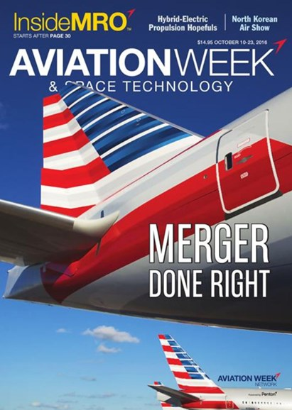 Aviation Week & Space Technology Cover - 10/10/2016