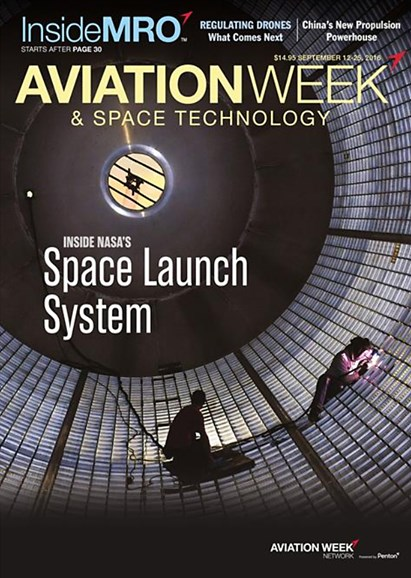 Aviation Week & Space Technology Cover - 9/12/2016