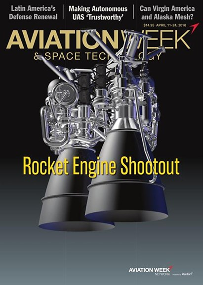 Aviation Week & Space Technology Cover - 4/11/2016