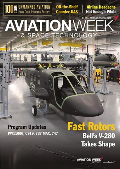 Aviation Week & Space Technology Cover - 4/25/2016