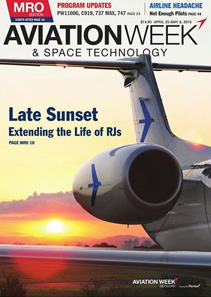 Aviation Week & Space Technology Cover - 4/26/2016