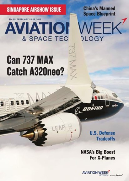 Aviation Week & Space Technology Cover - 2/15/2016