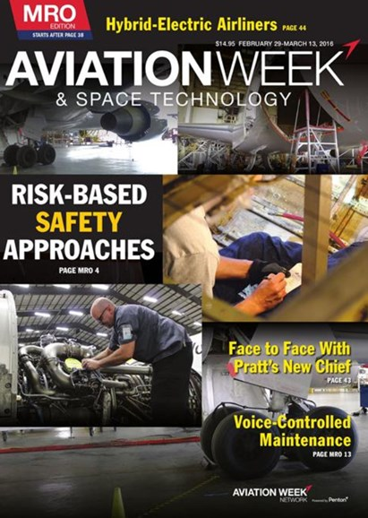Aviation Week & Space Technology Cover - 3/1/2016