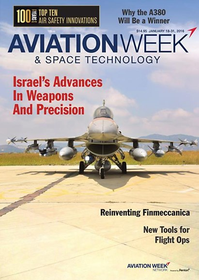 Aviation Week & Space Technology Cover - 1/18/2016