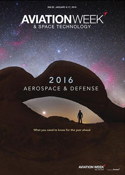 Aviation Week & Space Technology Cover - 1/4/2016