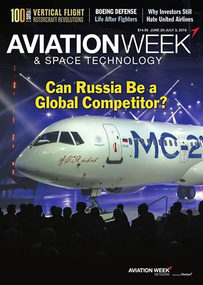 Aviation Week & Space Technology Cover - 6/20/2016