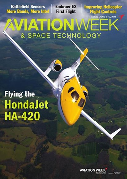 Aviation Week & Space Technology Cover - 6/6/2016