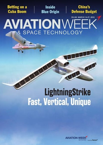 Aviation Week & Space Technology Cover - 5/14/2016