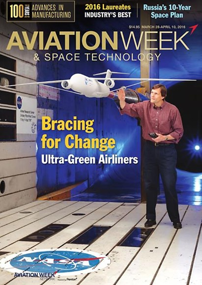 Aviation Week & Space Technology Cover - 3/28/2016