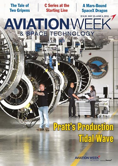 Aviation Week & Space Technology Cover - 5/23/2016