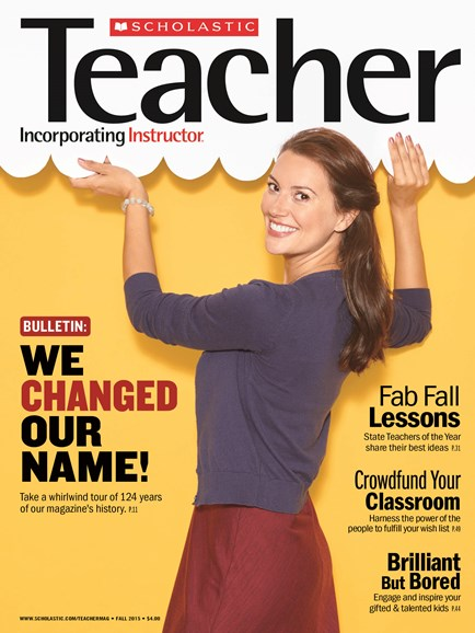 Scholastic Teacher Cover - 9/1/2015