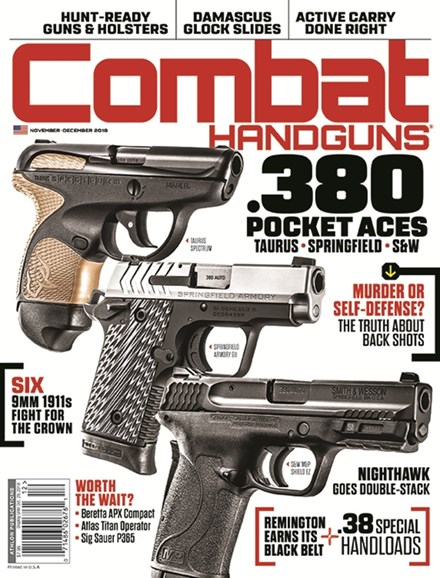Combat Handguns Cover - 11/1/2018