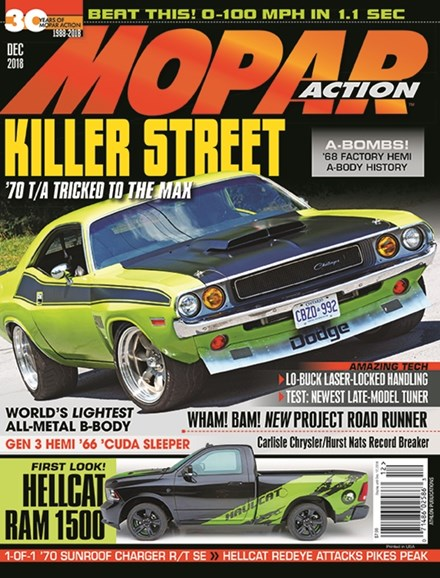 Mopar Action Cover - 12/1/2018
