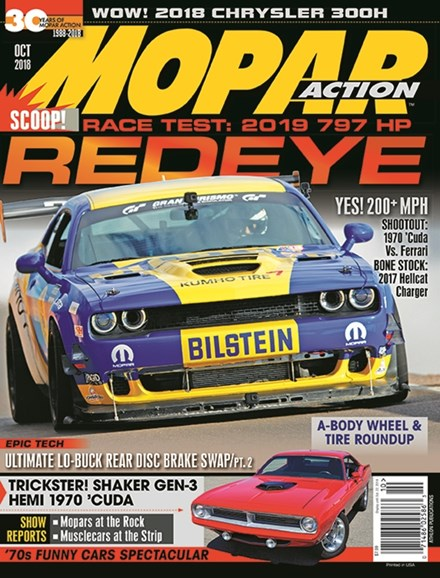 Mopar Action Cover - 10/1/2018