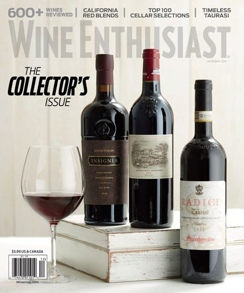 Wine Enthusiast Cover - 12/1/2018