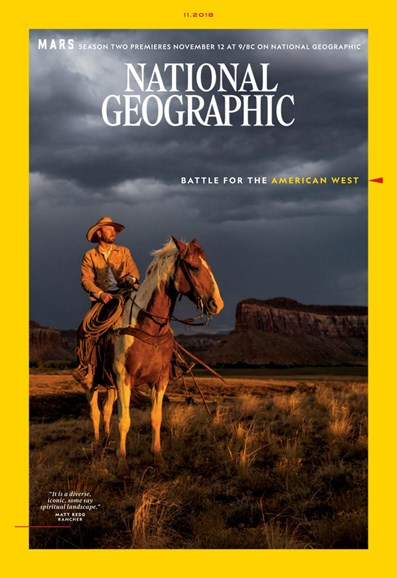 National Geographic Cover - 11/1/2018