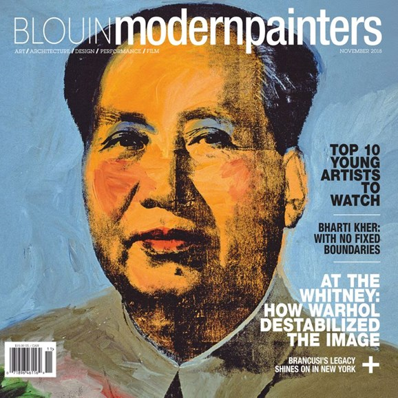 Blouin Modern Painters Cover - 11/1/2018