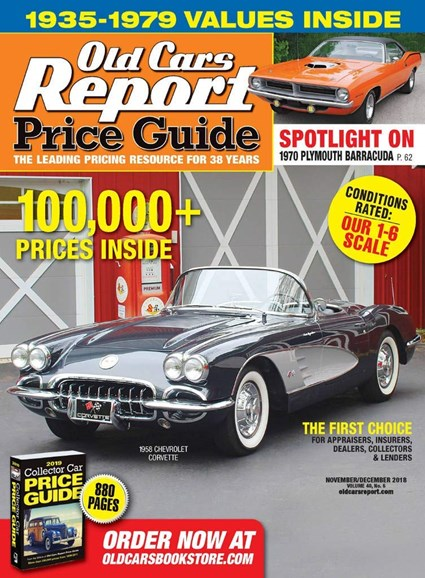 Old Cars Report Price Guide Cover - 11/1/2018